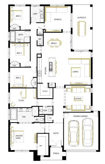 Plano de casa moderna de una planta proyectos que - Planos casas modernas ...