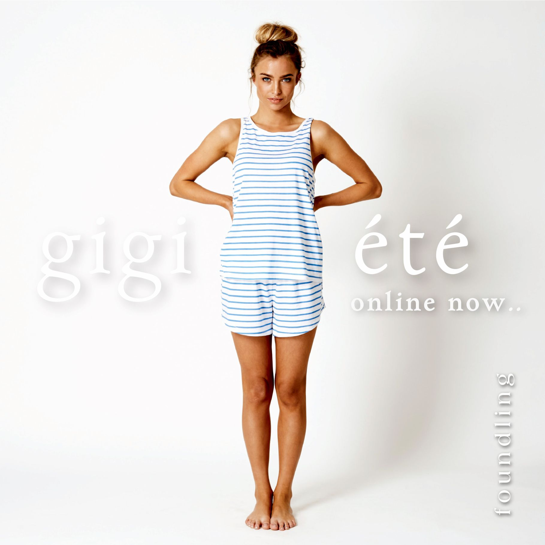 ..gigi ete lounge pj set in supersoft cotton..tres bon! www.foundling.com.au