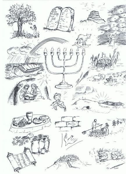 2002 03 quer durch die bibel klein bible story word deckblatt schule religionsunterricht. Black Bedroom Furniture Sets. Home Design Ideas