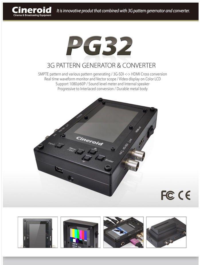 Cineroid Pg32 Handheld Smpte Signal Generator Hdmi Hdsdi