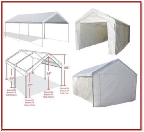 Details About Caravan Canopy 10 X 20 Domain Carport Car Boat Storage Garage Party Shelter Tent