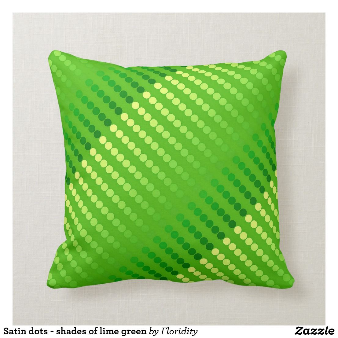 Magnificent Satin Dots Shades Of Lime Green Throw Pillow Zazzle Com Ibusinesslaw Wood Chair Design Ideas Ibusinesslaworg