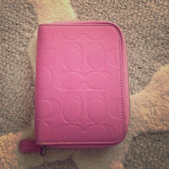 Pink leather coach wallet/organizer. Like new Pink leather coach wallet/organizer. Like new Coach Accessories