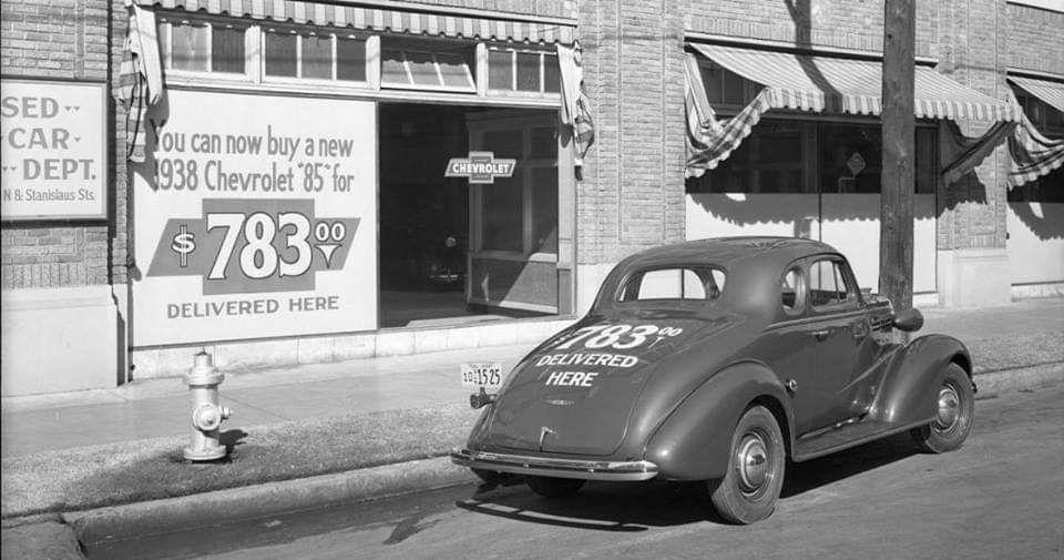 1938 Chevrolet Dealership Fresno California Chevrolet