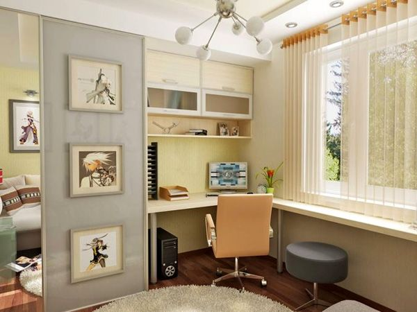 Study room simple corner desk ideas for small spaces for Small home study ideas