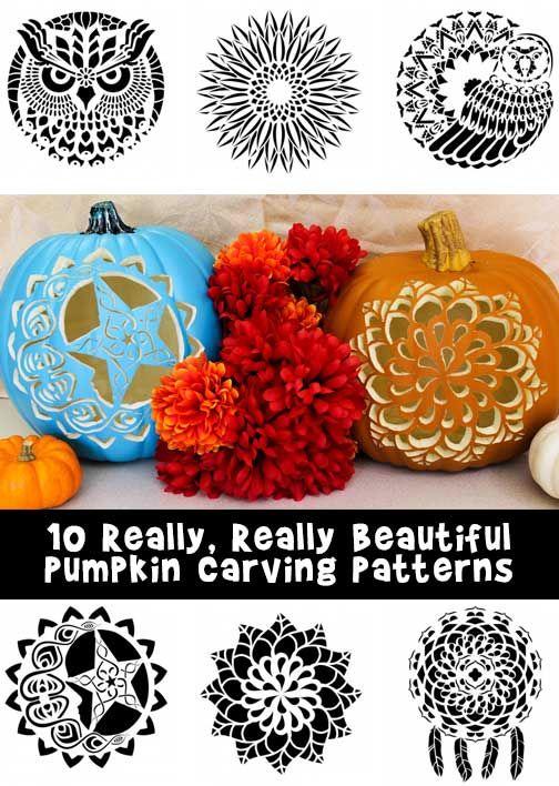 Really, Really Beautiful Pumpkin Stencils!   Woo! Jr. Kids Activities
