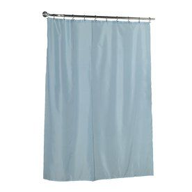 Carnation Home Fashions Polyester Light Blue Solid Shower Liner 72