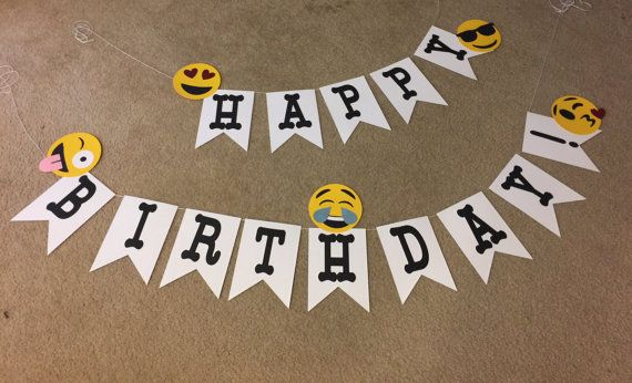Emoji Happy Birthday Party Banner By CindyGCastillo On Etsy