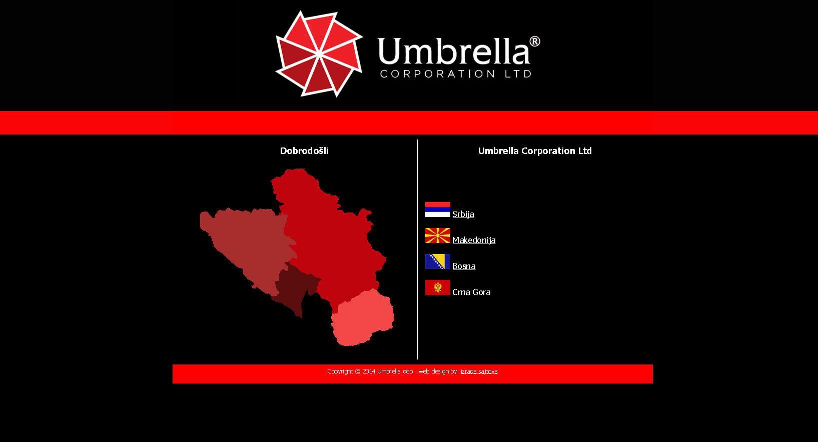 Umbrella Corporation Korporativni Sajt Odradjen Za Firmu  # Muebles Doo Beograd