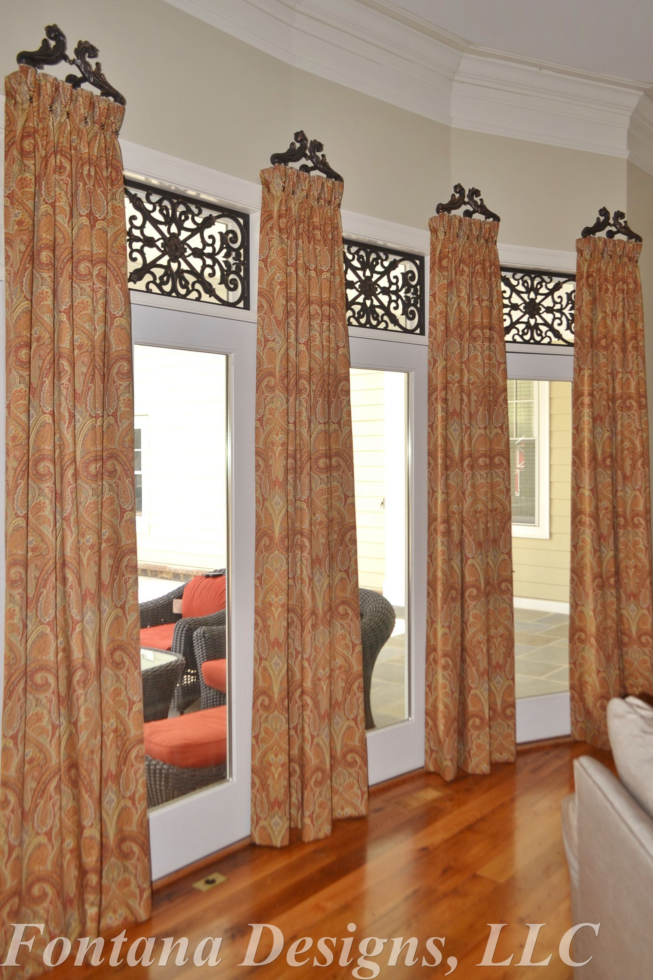 Award winning designers love tableaux faux iron designer for Interior decorator window treatments