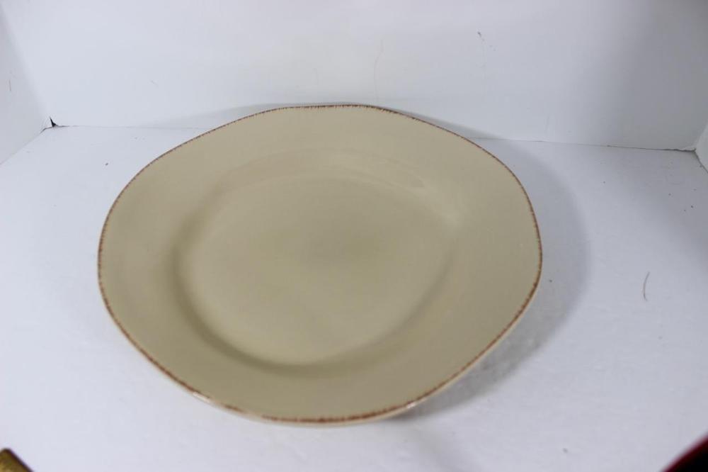 Pier One Earthenware Elemental-Tan \ Sand\ -Dinner Plate-NICE-RARE & Pier One Earthenware Elemental-Tan \