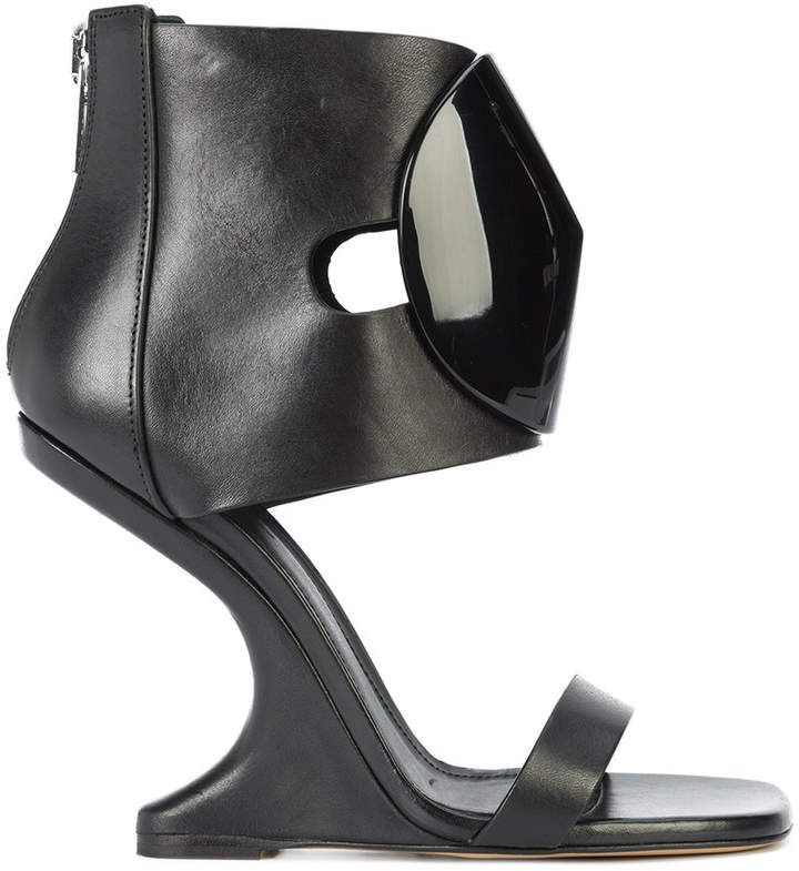 Leather ANKLE STRAP CANTILEVERED Sandals Spring/summer Rick Owens