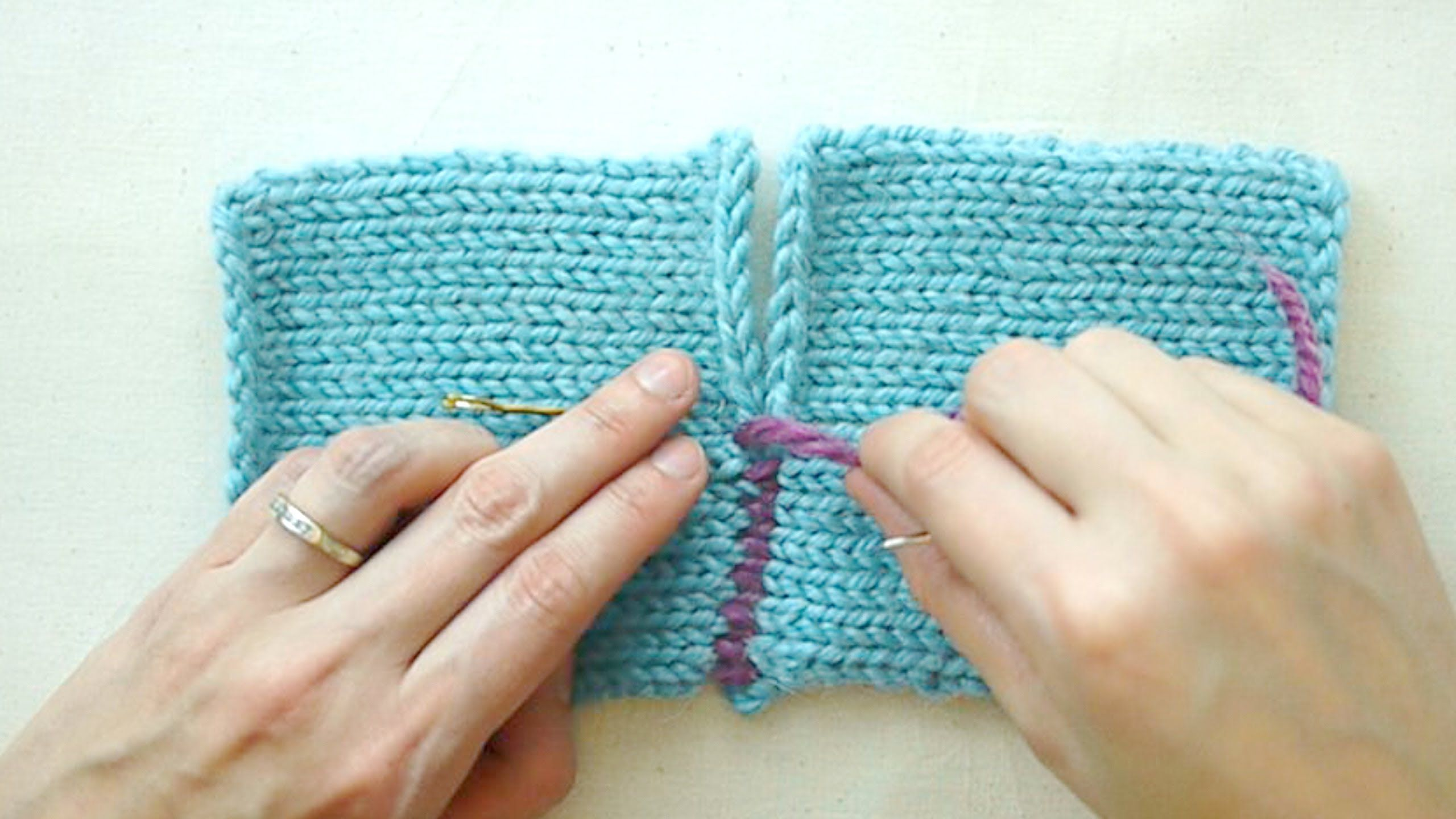 Alexis Winslow shows you how to sew seams on a knitted garment using ...