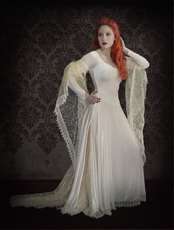 Tianna Gothic Wedding Dress / Fairy Dress in colors - Custom ...