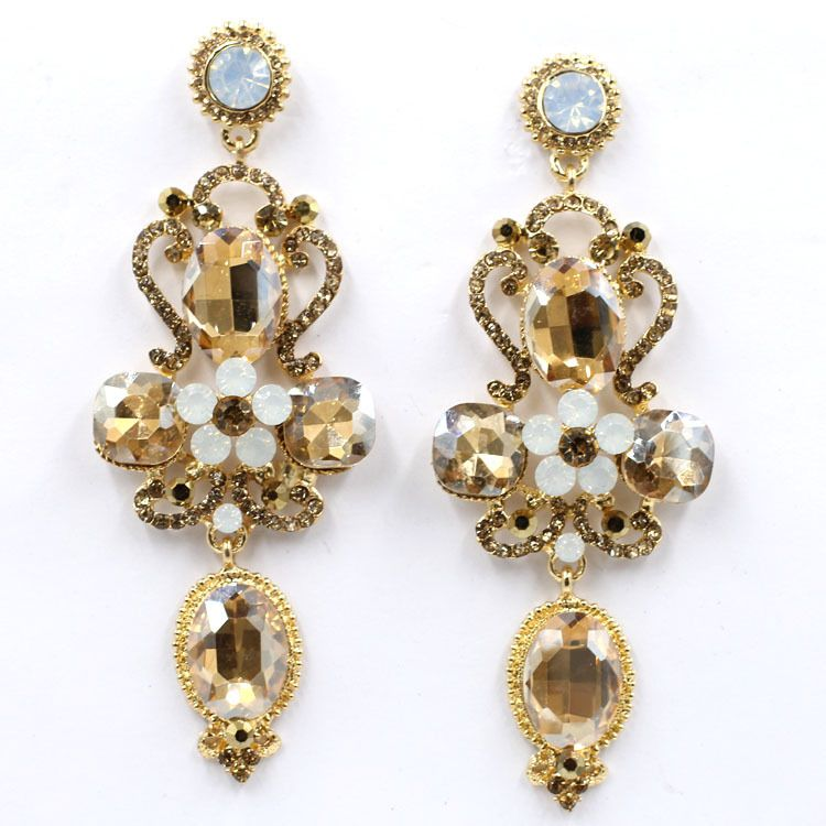 Pin By Statement Pieces On Earrings Baroque Crystal Stud Earrings Vintage Earrings Earrings