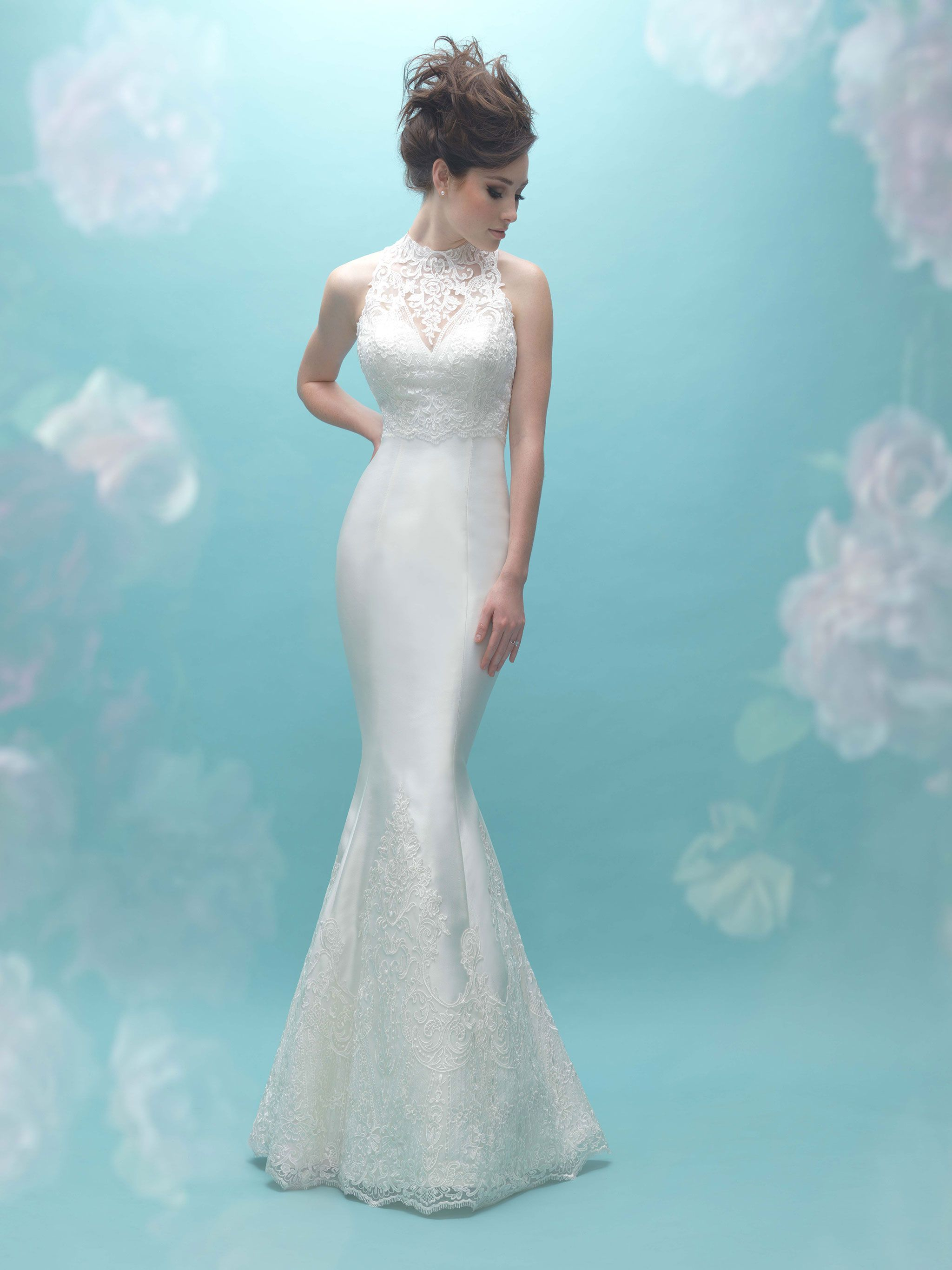 Allure Bridal 9458 (with additional jacket 9458J) Sample: Ivory ...