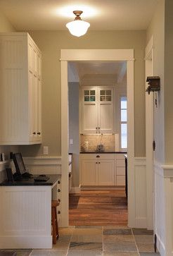 Add Beadboard To Cabinets 0 With Trim Simple Door Trim Design Pictures Remodel Decor Craftsman Style Kitchens Craftsman Interior Craftsman Interior Design