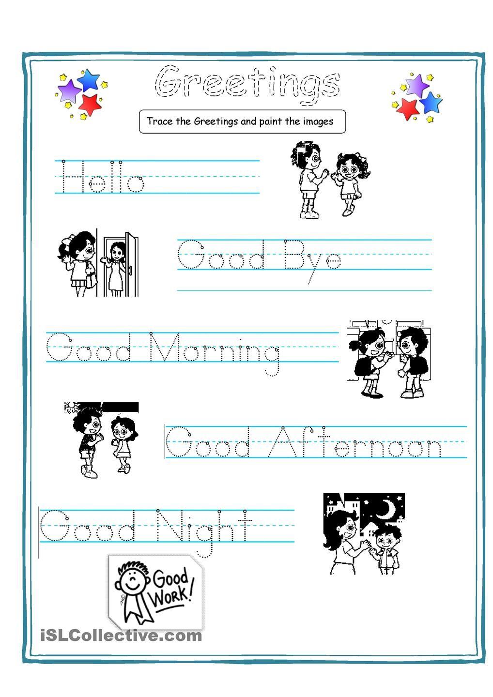 Greetings for kids teaching english pinterest english greetings for kids kristyandbryce Gallery