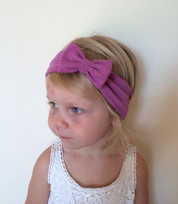 Jersey Knit Bow Headband