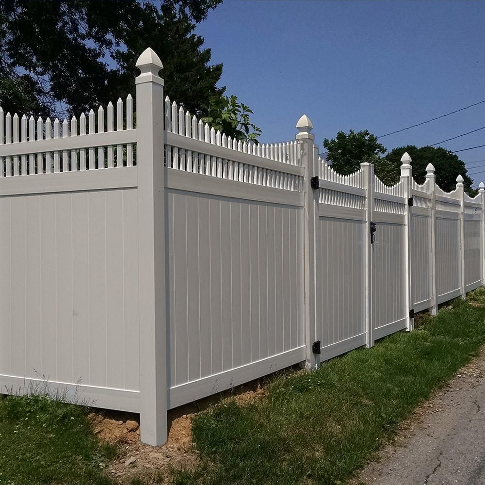 Weatherables Halifax 6 Ft H X 8 Ft W Tan Vinyl Privacy Fence Panel Kit Ptpr Ots 6x8 Vinyl Privacy Fence Privacy Fence Panels Fence Panels