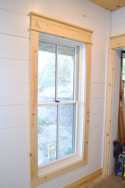 DIY shiplap walls and farmhouse trim images