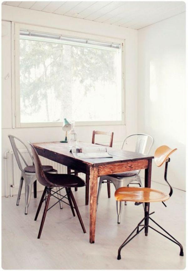 37 Ideen verschiedene Stühle im Esszimmer zu verwenden Stühle - wohn und essbereich gestalten