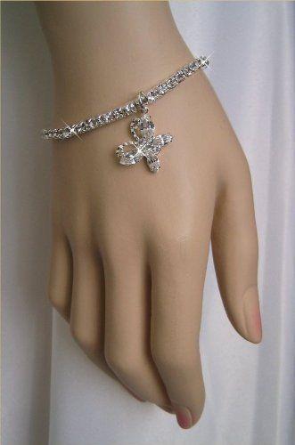 Rhinestone Silver Butterfly Bridal Prom Bracelet by Delicate Spirits, http://www.amazon.com/dp/B005FO0PLU/ref=cm_sw_r_pi_dp_PkbVpb1VAZC5M