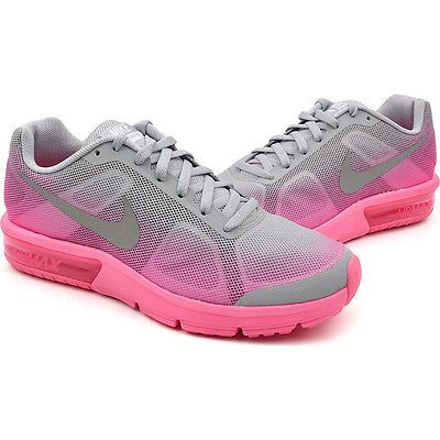 finest selection 9d1c2 fb9f9 Nike Air Max Sequent Girls Gs Big Kids 724984-002 Grey Pink Shoes Youth  Size 6.5
