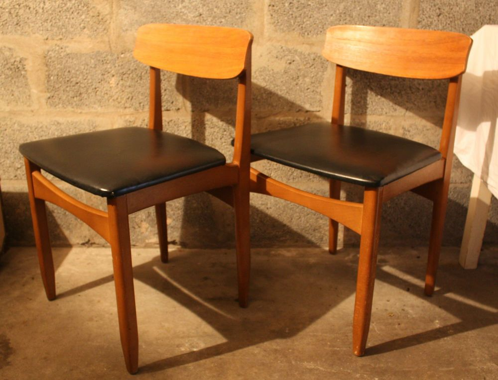 2 Vintage Retro Teak Dining Chairs G Plan Mid Century Danish
