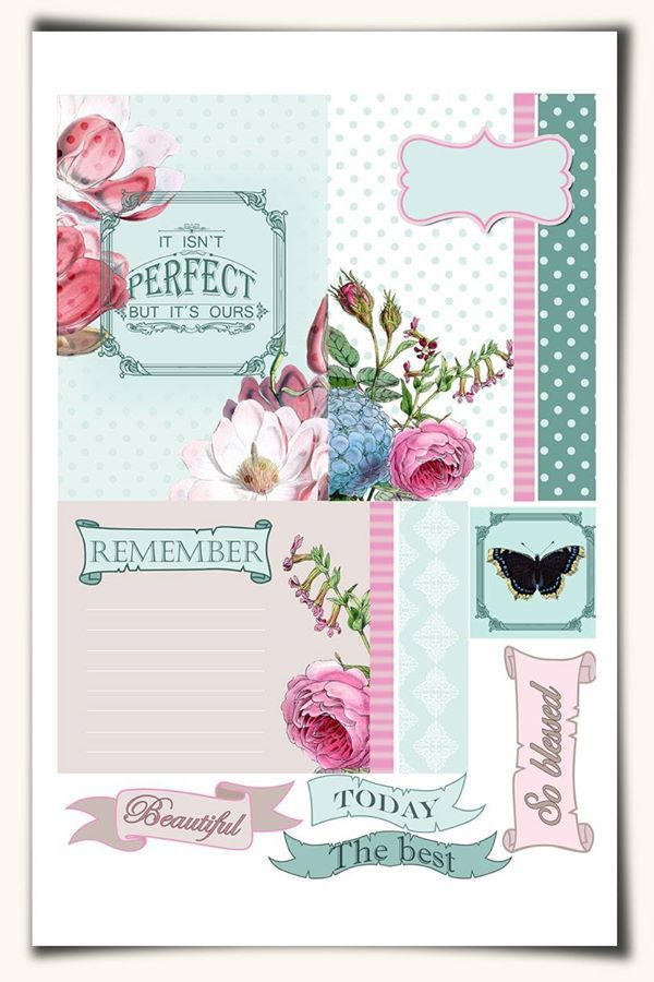 Free Journal Cards for Pocket Scrapbooking {in English and Swedish}