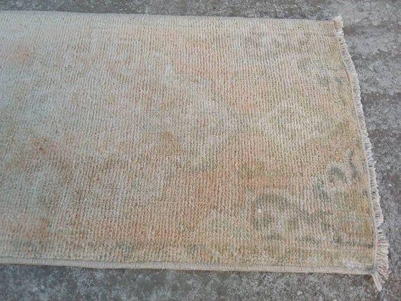 Mini Oushak Carpet Rug, Handwoven Vintage Small Rug, Anatolian Small Rug, Turkish Small Rug, Entry Rug, Home Decor Mini Rug, 1.6x2.10 feet45x85cm/1'6x2'10 feet
