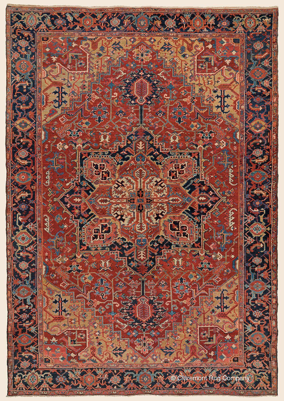 Heriz 8 5 X 12 0 Circa 1910 Price 17 000 Northwest Persian Antique Rug Claremont Company