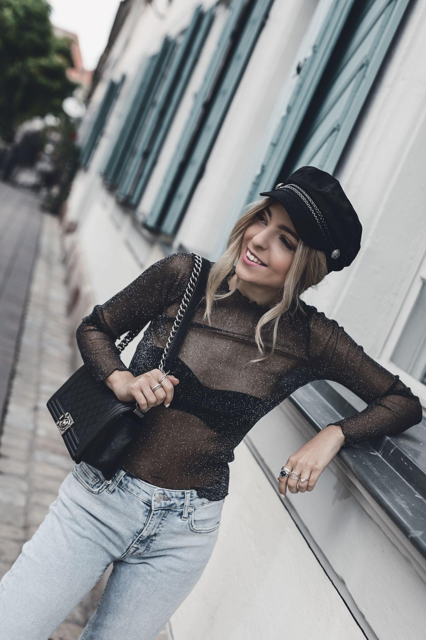 01f60199001b9 Baker Boy Hat Outfit Street Style 2017 Women Casual Winter Fall Fashion  Outfit Ideas Newsboy Cap