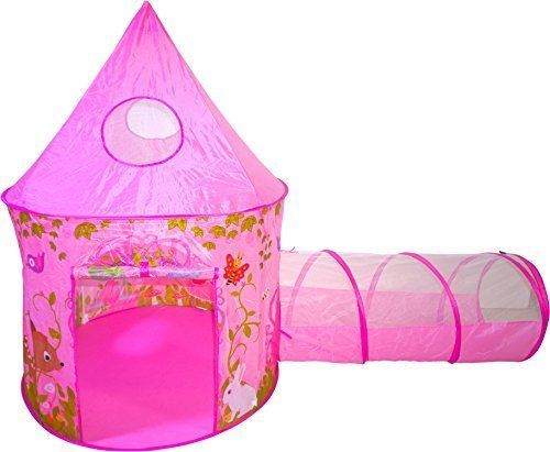 Kids Princess Girls Cute Castle Fairy Tale Play Tent Tunnel Playhouse Soft Safe  sc 1 st  Pinterest : girl play tent - memphite.com
