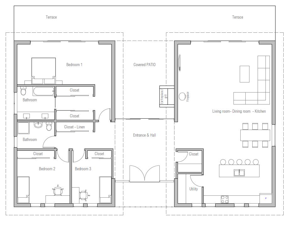 House Plan Ch411 House Floor Plans Home Design Floor Plans House Plans