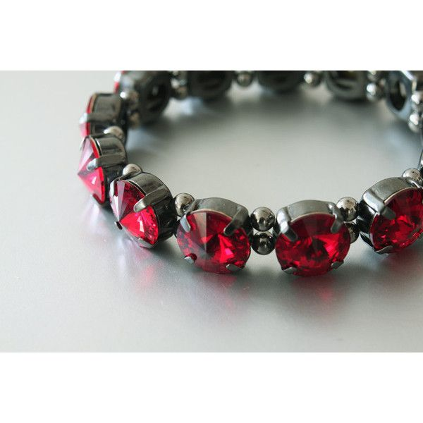 Swarovski Rivoli Stretch Bracelet Crystals Siam Red 29