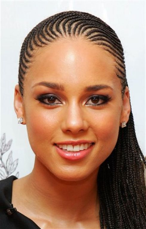 Alicia Keys Cornrow Hairstyles Hairstyles For 2015 Cornrows Styles Womens Hairstyles Medium Hair Styles