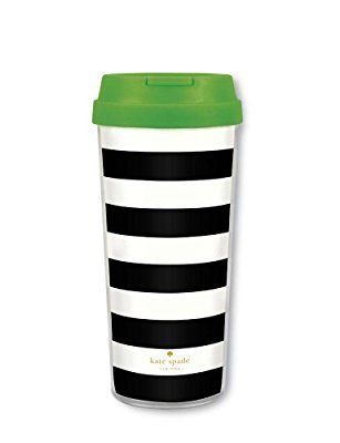 Kate Spade Thermal Mug - Black and White Stripe