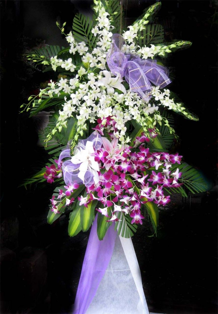 Lẵng hoa Tang Lễ, Lẵng Hoa Chia Buồn, Vòng Hoa chia buồn.