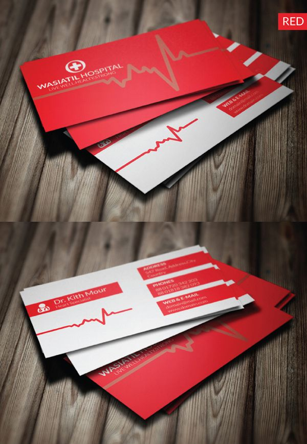 Doctor Business Card #businesscards #businesscardtemplates - business card template for doctors