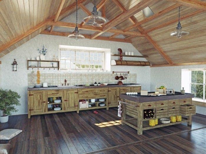 Küche Dachschräge - 50 Ideen für ein auffälliges Küchendesign - #auffälliges #dachschrage #ein #für #Ideen #Küche #Küchendesign