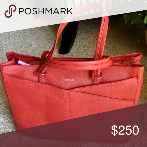 c56cfc4379 Unique Cole Haan Red Tote Bag/Purse This unique red Cole Haan bag was  specifically