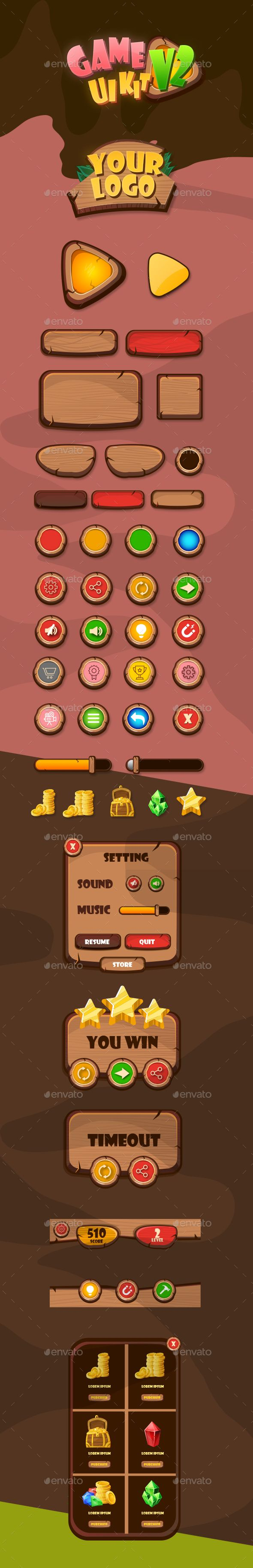Pin by Graphic Assets on Royalty Free Game User UI Templates