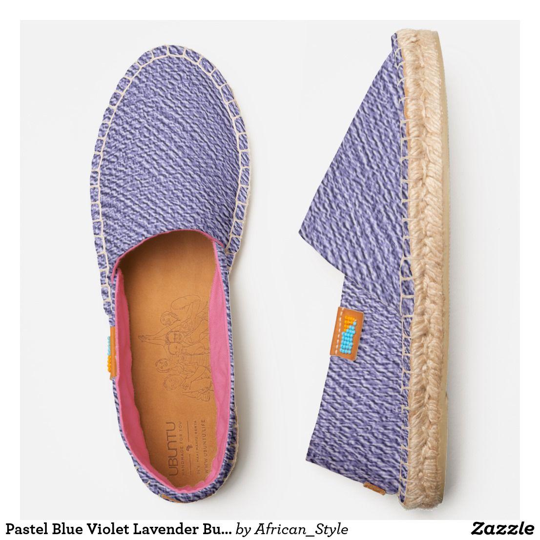 Pastel Blue Violet Lavender Burlap Look Casual Espadrilles | Zazzle.com