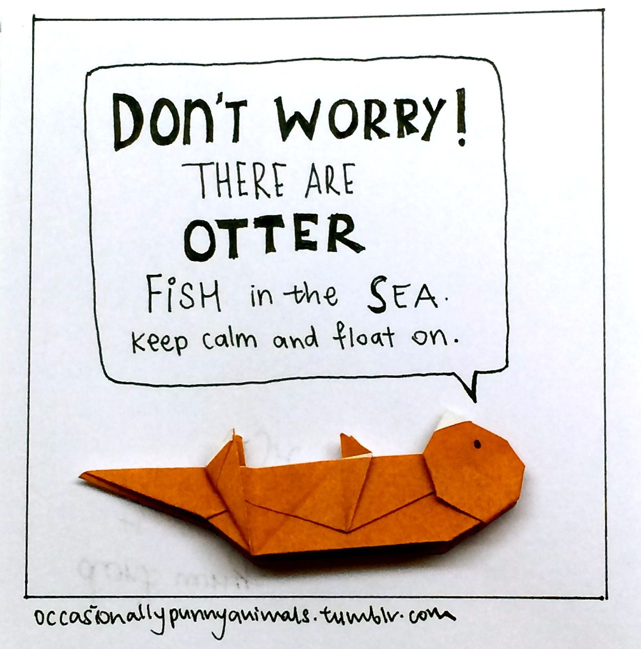 Cute And Motivational Blog Pairs Animal Origami With ... - photo#37