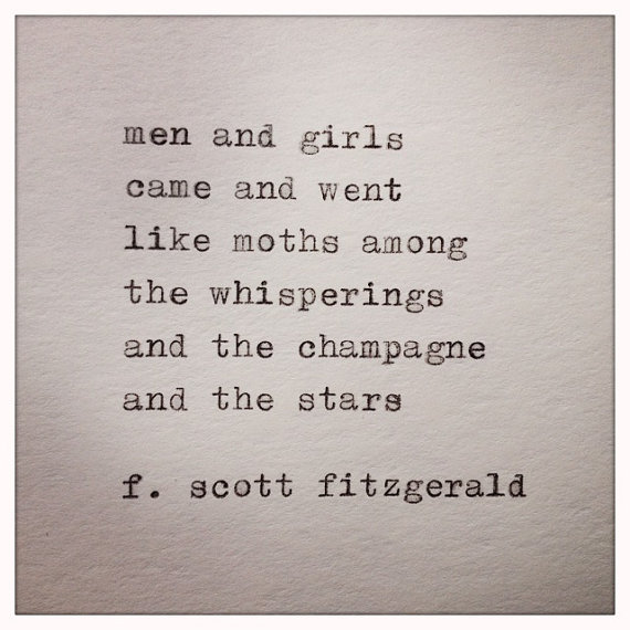 Quotes From The Great Gatsby Great Gatsby Quote Typed On Typewriter  Gatsby Quotes Gatsby And