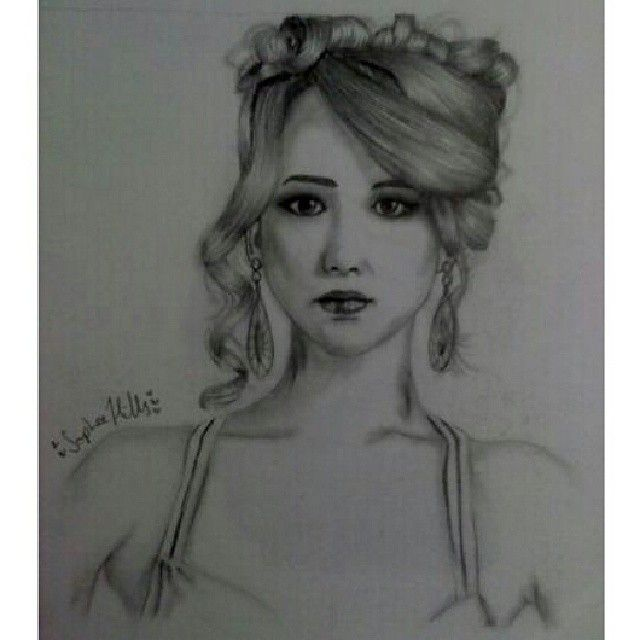 Jennifer Lawrence from American Hustle ♥ #art #AmericanHustle