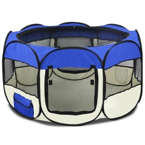 Eight24hours Pet Dog Cat Playpen Tent Portable Exercise Fence Kennel Cage Crate Blue  M *** You can get additional details at the image link.(This is an Amazon affiliate link)
