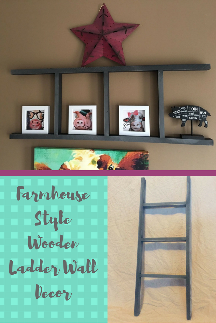 Affordable farmhouse ladder decor so many possibilities with this