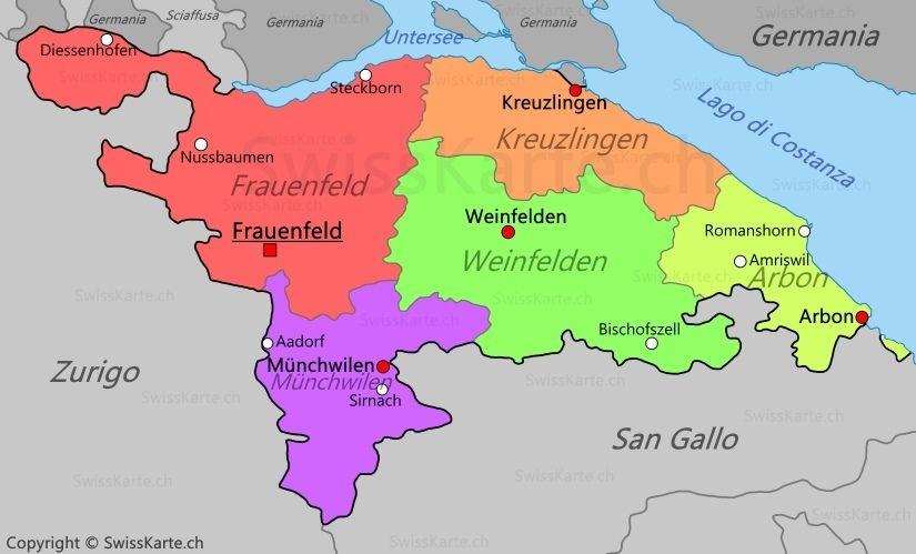 Mappa Di Turgovia Mappe Germania